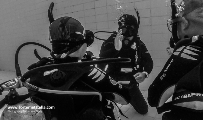 PADI Open Water Diver course – confined water session