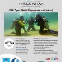 PADI Open Water, Advanced and Rescue diver course